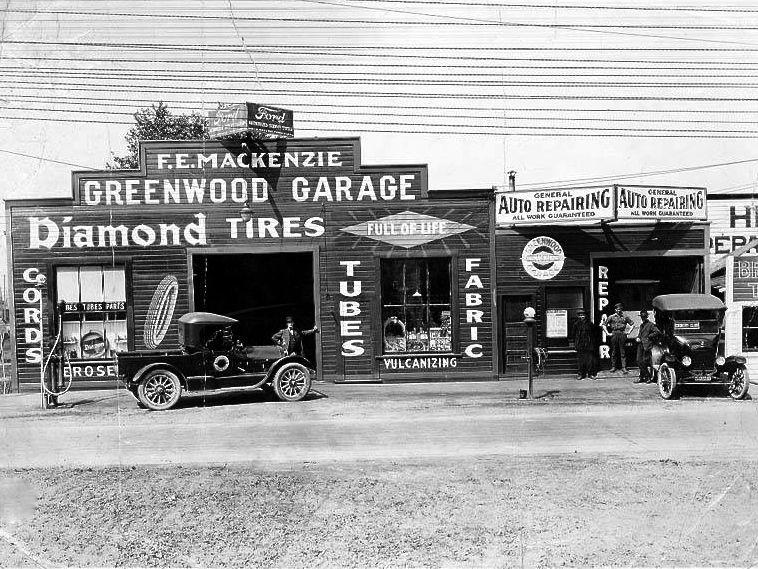 hooch and gasoline for sale at the greenwood garage the old motor. Black Bedroom Furniture Sets. Home Design Ideas