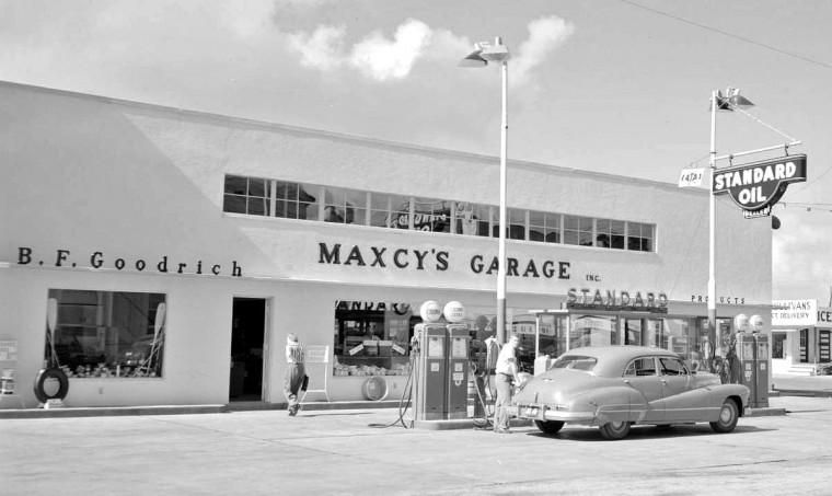 Vintage Gasoline Seven Nostalgic Service Station Images