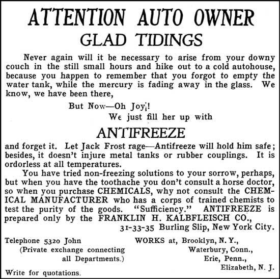 auto antifreeze 1905