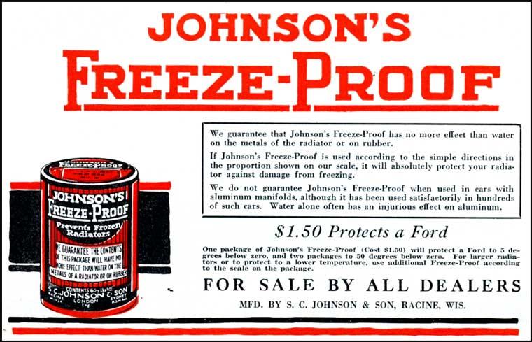 johnsons antfreeze 1920