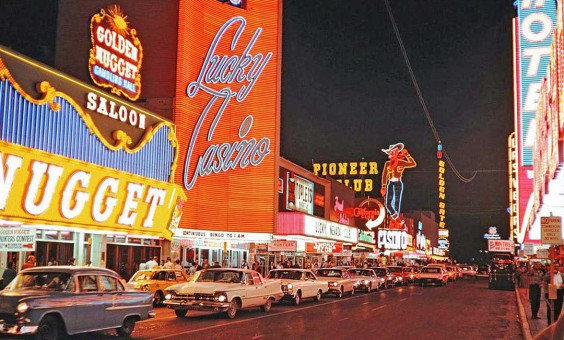 las vegas street scene c1965