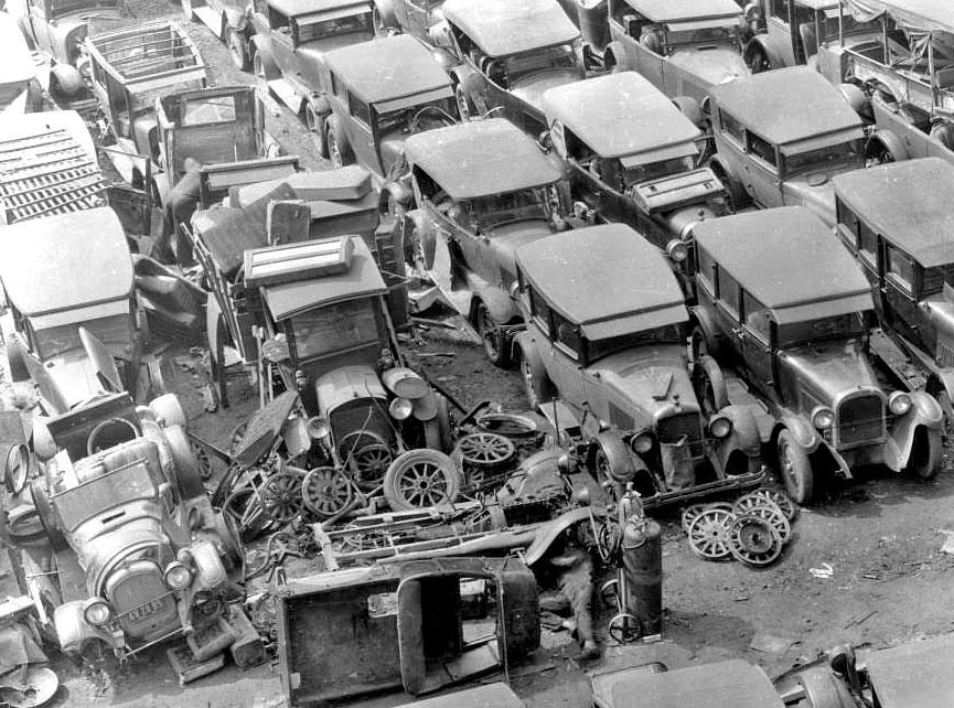 A Great Depression Era Los Angeles, California Wrecking Yard | The ...