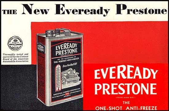 prestone antifreeze 1930