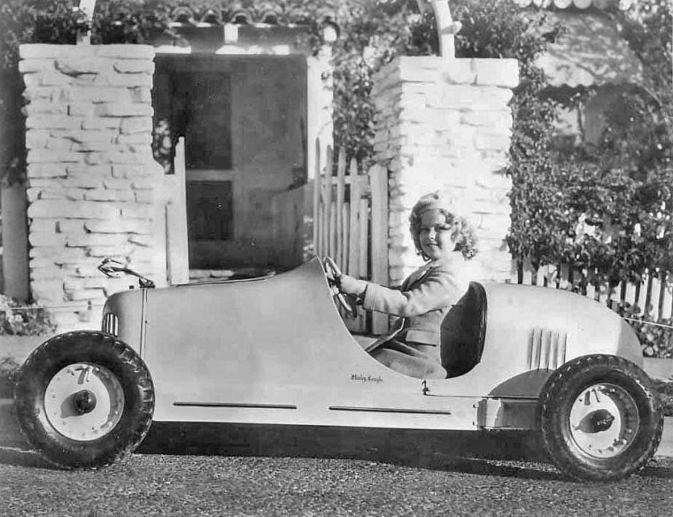 shirly temple pop dryer racing car