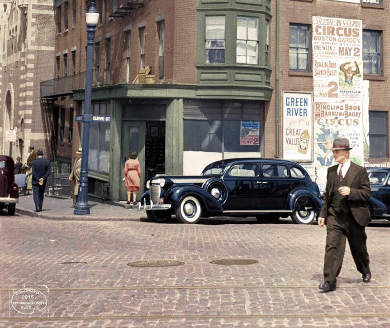 1938 Boston Street Scene