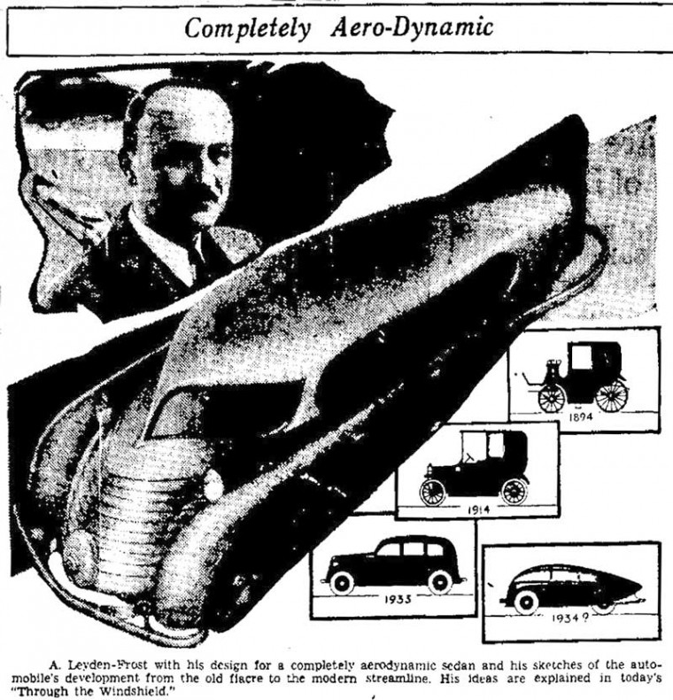 Alexander Leydenfrost with aerodynamic sedan