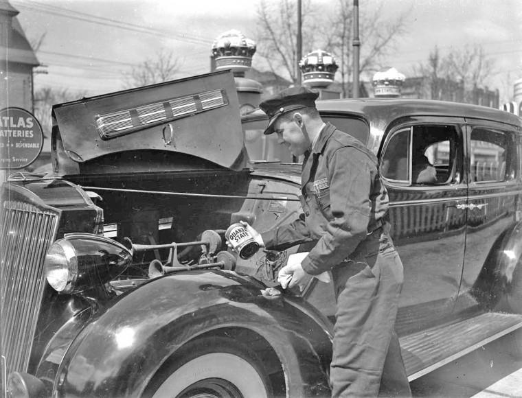 Standard Oil Service Man
