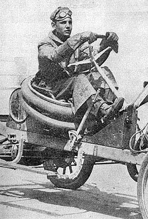 buck jones with racing car