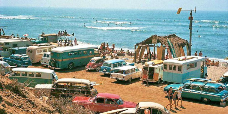 1960s California surfing