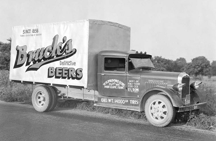 Bruck's Beers GMC truck