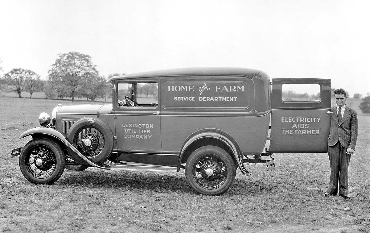 1920 ford panel truck