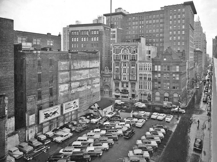 New Orleans Car Parking Lot 1950s 3