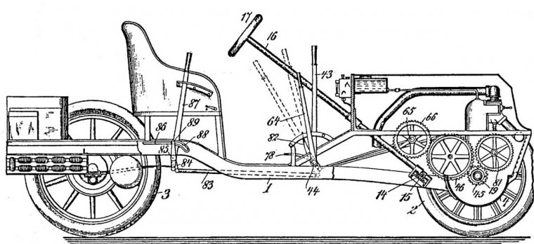 1904 Christie Automobile Patent Drawing