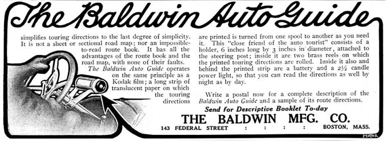 1910 Baldwin Automobile Guide