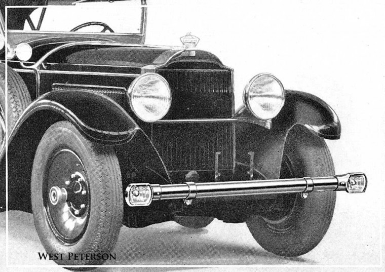 1929 Packard Bumper with Driving Lights