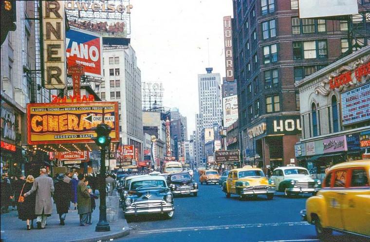 New York City 1950s Street Scene
