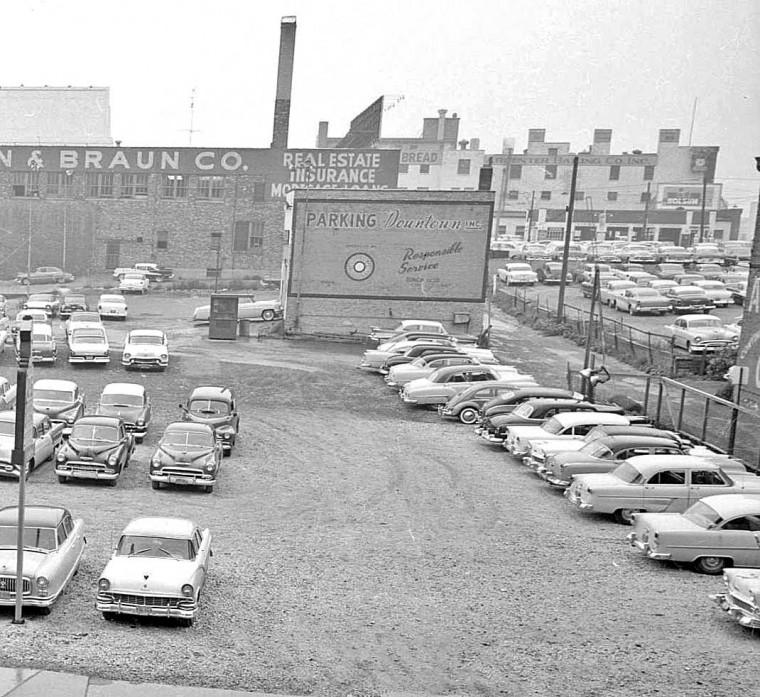 Parking Lot Schlitz Beer Parking Dountown Inc.