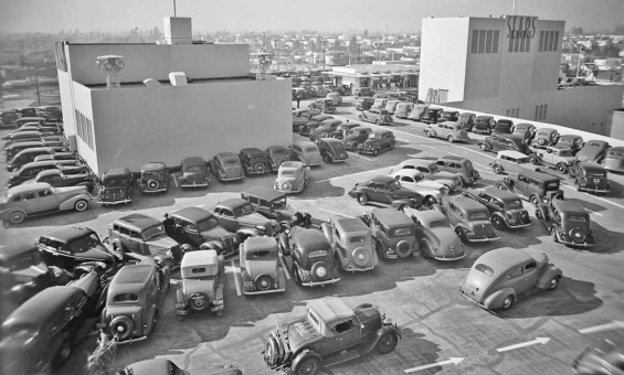 Rooftop Top Parking Los Angeles 1939