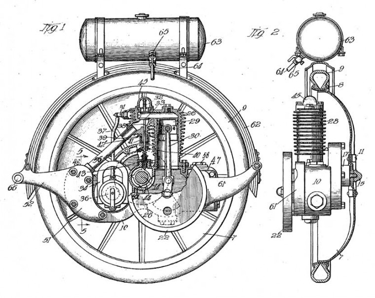 Smith Motor Wheel Patent 1