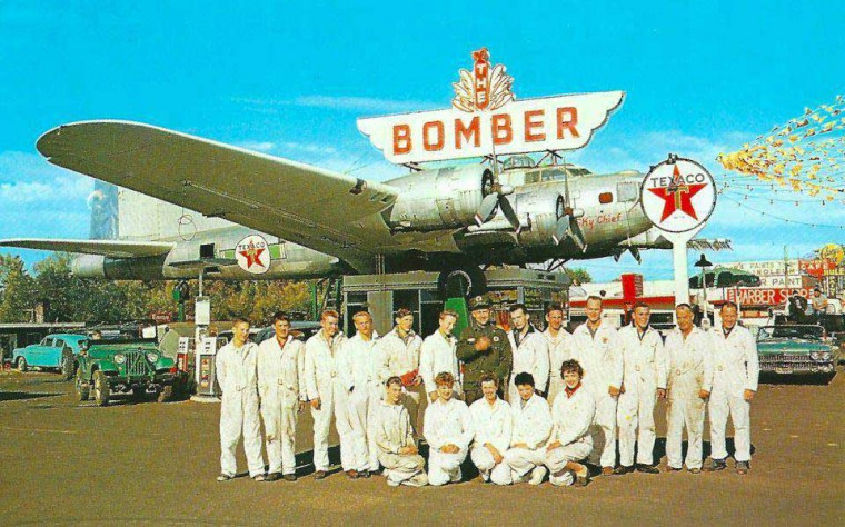 The Bomber Texaco Sky Chief Gas Station 1960