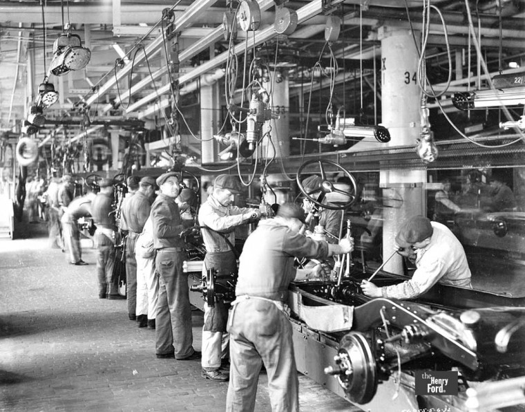 1932 Ford Chasiss Assembly Line