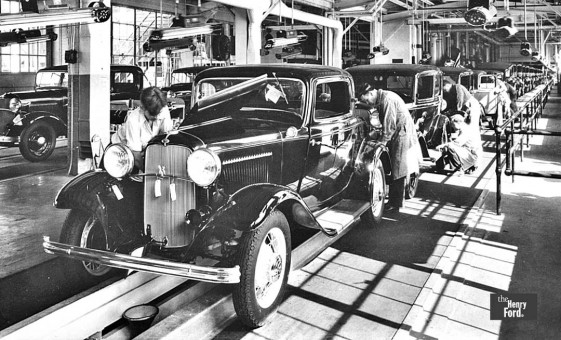 1932 Fords On The Assembly Line