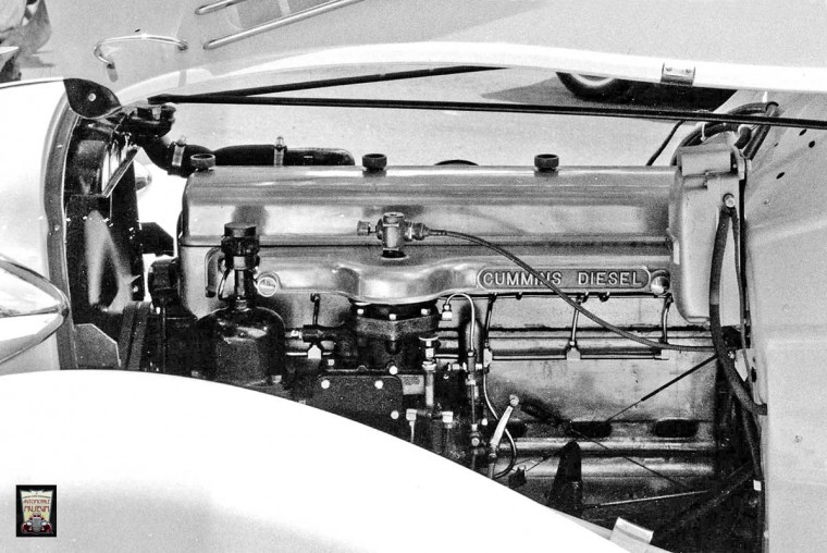 Aluminum 1935 Cummins Diesel in a 1935 Auburn