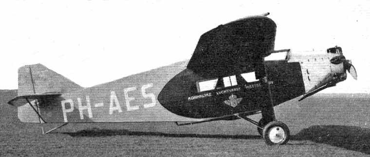 Dutch KLM Koolhoven F.K. 40 airplane
