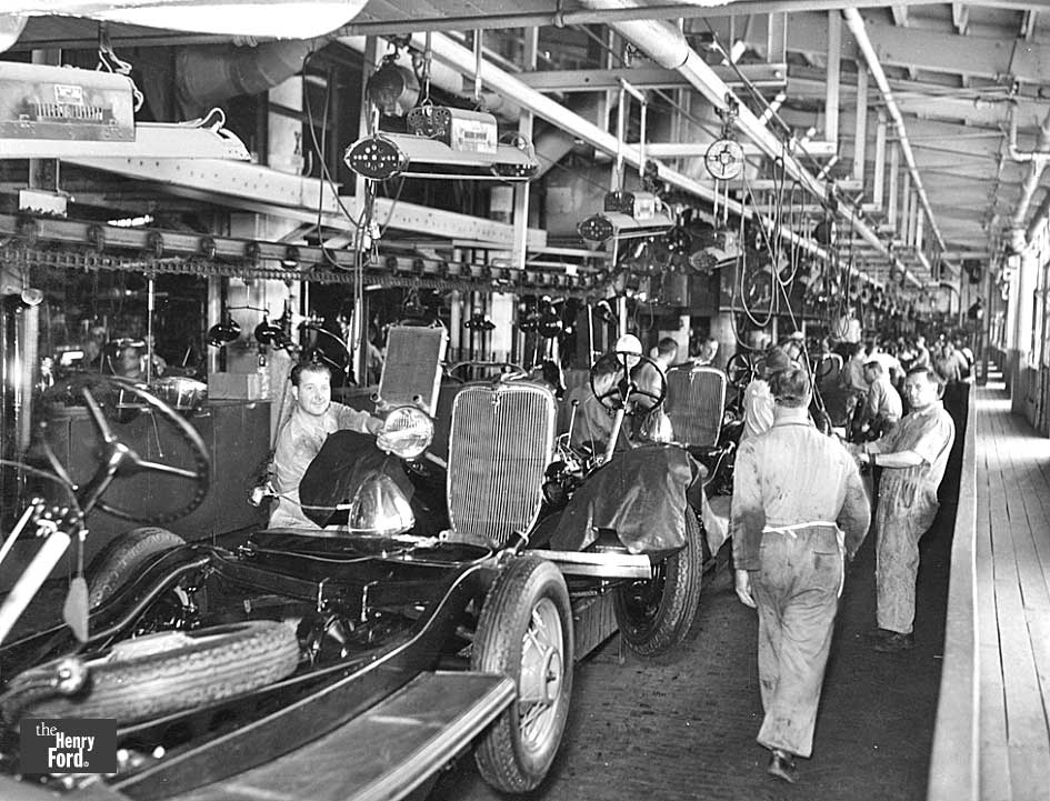 Scenes From The Assembly Line At The Ford River Rouge