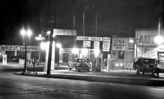 Hane Brothers Shell Gasoline and Service Los Angeles CA 1934