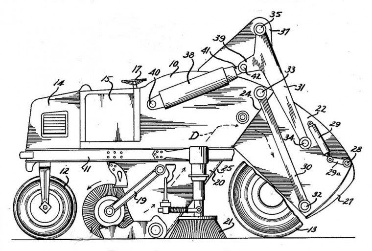 1948 Elgin Street Sweeper Patent