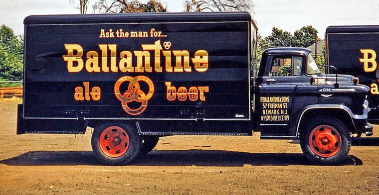 1950s Ballantine Beer GM Truck