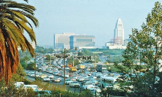 1950s Los Angeles Freeway Scene
