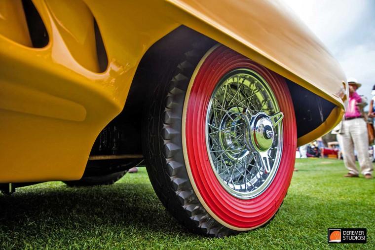 1952 Pegaso Z-102 Cupola Red-Orange tire sidewalls