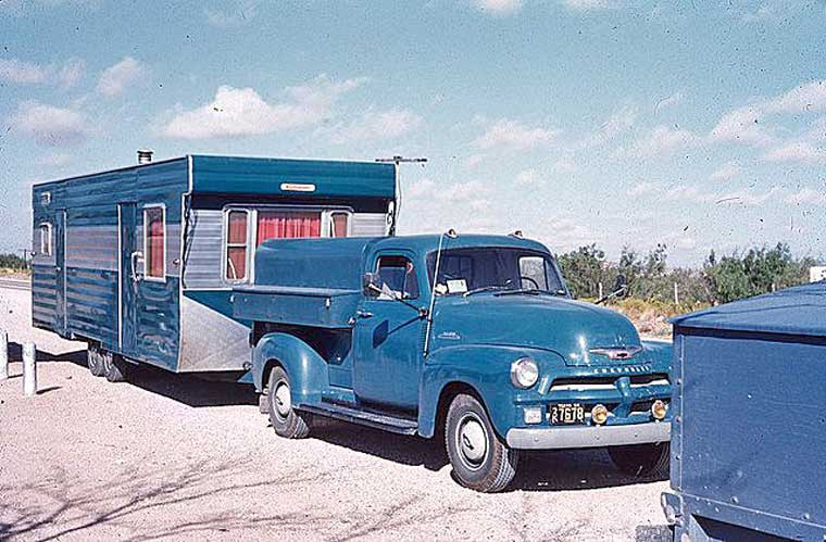 Early-1950s Chevrolet Truck and Travel Trailer