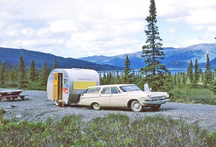 Early-1960s Dodge and Camp Trailer