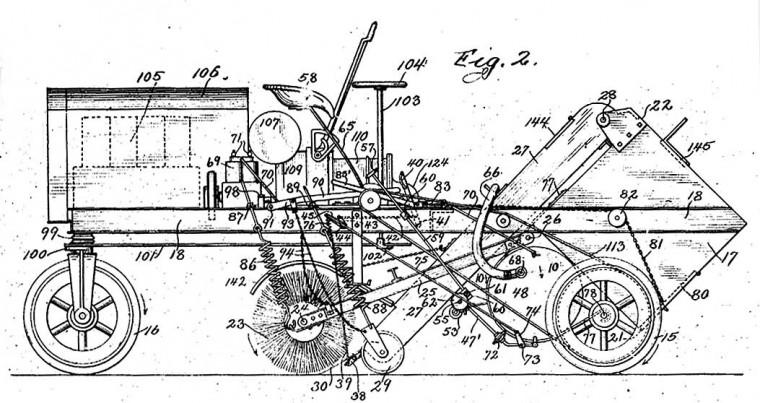 John M. Murphy 1913 Elgin Street Sweeper Patent