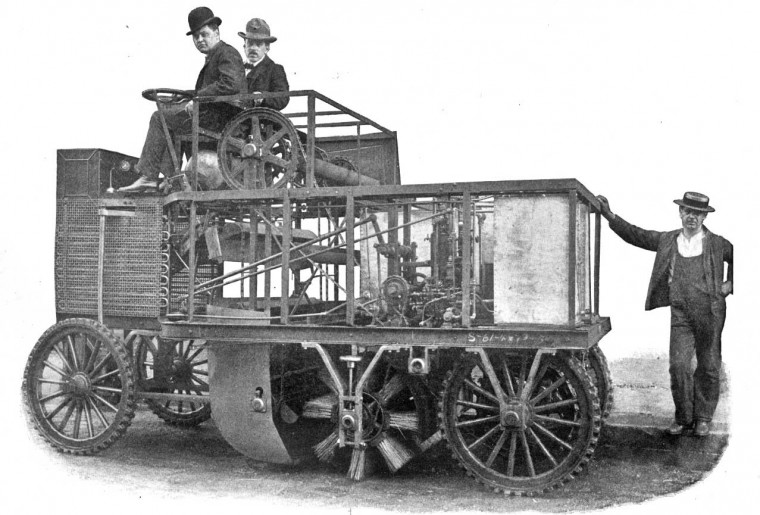 John S. Muir Syndicate 1903 Steam-Powerer Street Sweeper