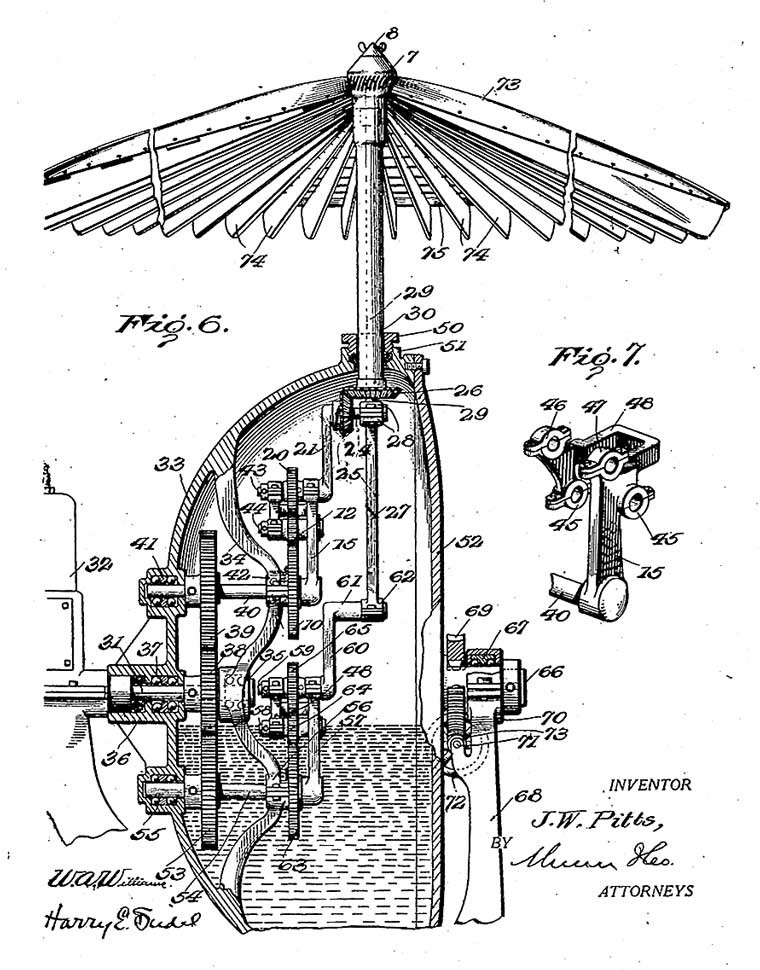 John W. Pitts rotary motion and reciprocatory motion machine