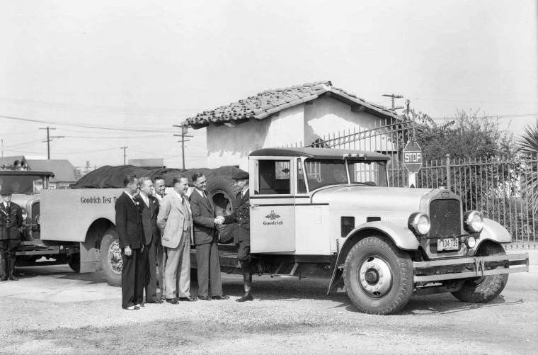 Pacific Goodrich Rubber Co. White Trucks