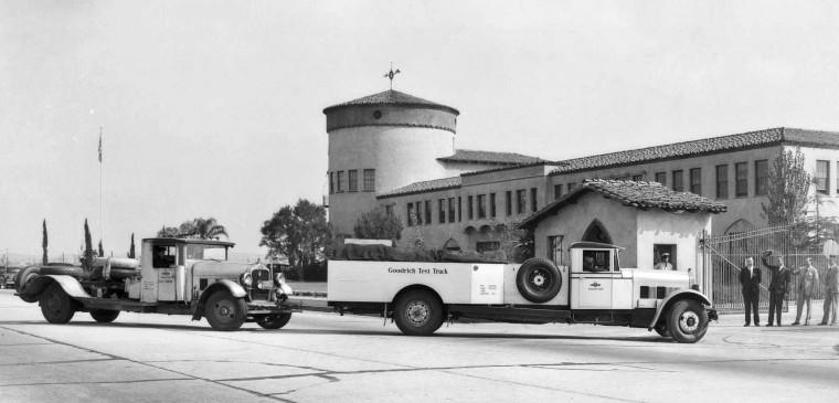 goodrich Test Truck at Pacific Goodrich Rubber Co 1931