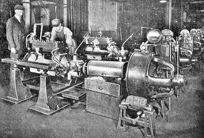 1921 Packard Six Engine Being Run-in