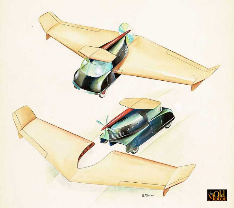 1940s Flying Car Design Proposal I