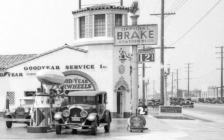 Blimp Gasoline Goodyear Tires Los Angeles 1932