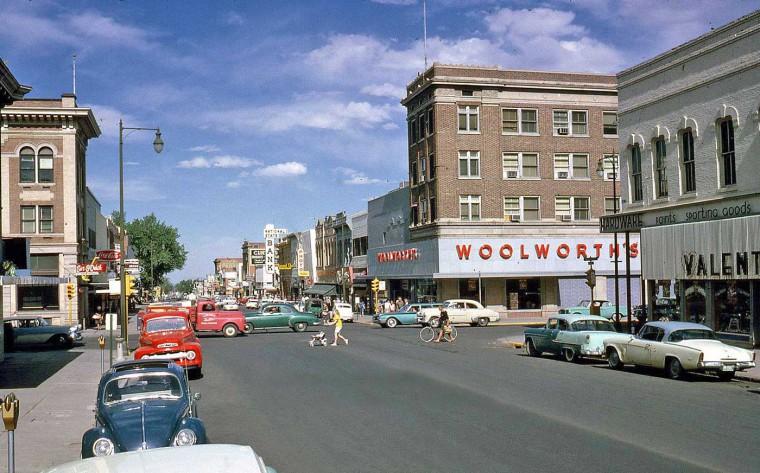 Boulder Colorado 1960s Street Scene