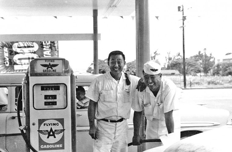 Flying A Gas Station Late-1950s