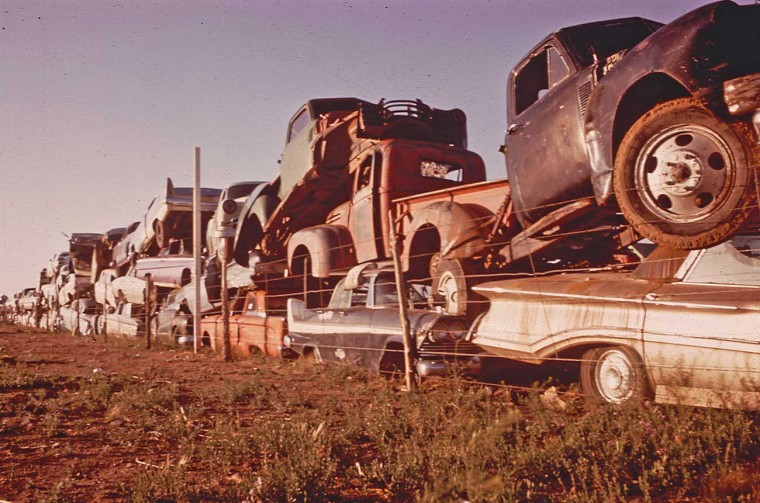 Project Documerica 1970s Epa Automotive Junkyard Images