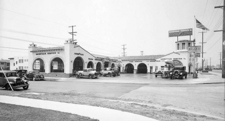 Los Angeles Goodyear tire store 1932