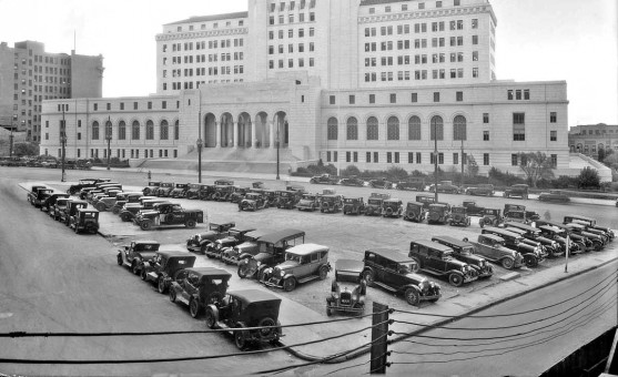 Parking Lot Los Angeles City Hall 1931