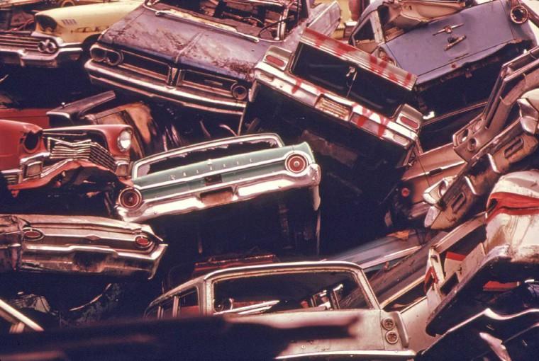 Wrecking Yards In Oregon : Project documerica s epa automotive junkyard images